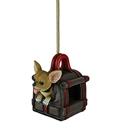 World Of Wonders Traveler's Treat Chihuahua Dog in Carrier Hanging Bird Feeder