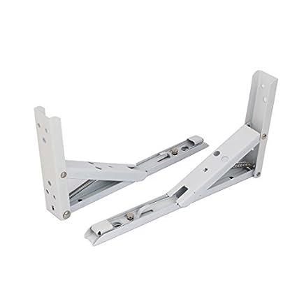 eDealMax a16050400ux0194 plegable soporte de repisa Librero de 10 pulgadas de largo con resorte de metal