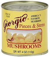 Giorgio Mushroom Pieces N Stem (6 Pack)