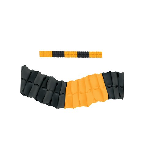 12' Black Tissue - Beistle 55628-BKGY Tissue Paper Leaf Garland, 4.5