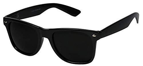 Legend Eyewear - Retro Super Dark Lens Non-Polarized Lens Square Horn Rimmed Sunglasses GlossBlack