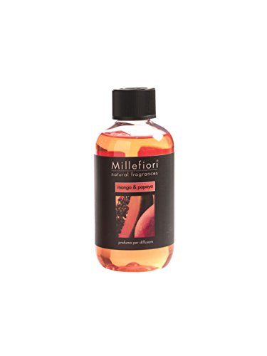 Millefiori Milano Fragrance Refill Stick, 250ml, Mango and Papaya