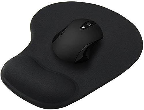 FEDUS Black 3D Ergonomically Designed Non-Slip Skid Resistant Anti-Skid Mouse Pad with Gel Wrist Rest Comfort Support…