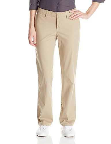 Dickies Women's Slim Fit Boot Cut Stretch Twill Pant, Desert