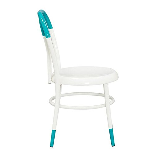 Ace Casual Kids Ellie White Bistro Chair, Turquoise, One Size