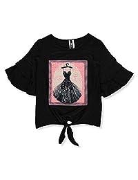 Insta Girl Girls' Flutter Sequin Top