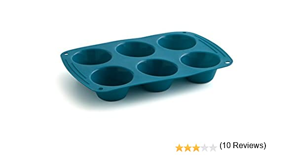 Quid Molde 6 Muffins 26,5X16,6 Silik-One, Silicona, Azul, 0.78 cm ...
