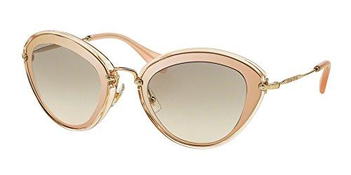Miu Miu UFD-3H2 Pink / Gold 51R Cats Eyes Sunglasses Lens Category - Sunglasses Eye Miu Pink Cat Miu