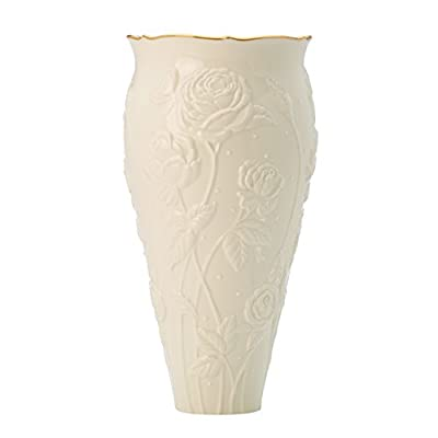 "Ivory Rose Large Vase by Lenox - Crafted of Lenox fine ivory porcelain Height: 11"" - vases, kitchen-dining-room-decor, kitchen-dining-room - 311D7KrHwLL. SS400  -"