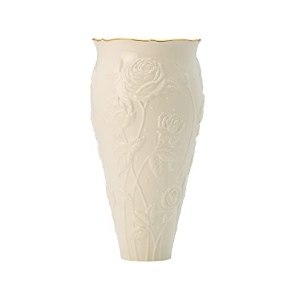 "Ivory Rose Large Vase by Lenox - Crafted of Lenox fine ivory porcelain Height: 11"" - vases, kitchen-dining-room-decor, kitchen-dining-room - 311D7KrHwLL. SS570  -"