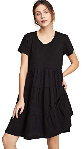 Wilt Women's Tiered Trapeze Dress, Black, Small