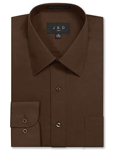 JD Apparel Mens Long Sleeve Regular Fit Solid Dress Shirt 17-17.5 N 32-33 S -