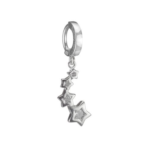 Shooting Stars Sterling Silver and CZ Belly Button Ring by TummyToys