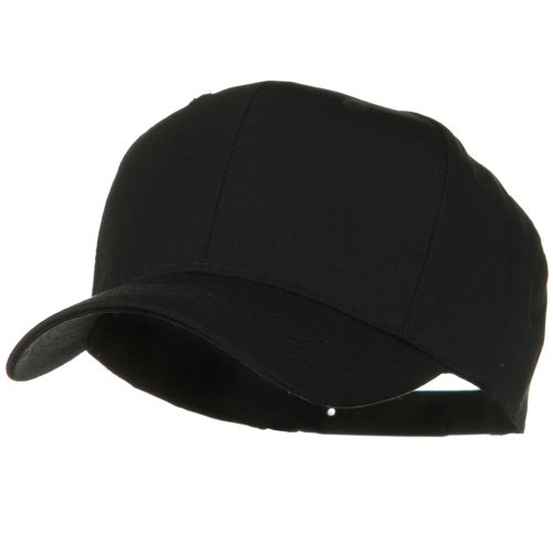 Solid Cotton Twill Pro Style Cap - Black (Solid Cap Cotton)