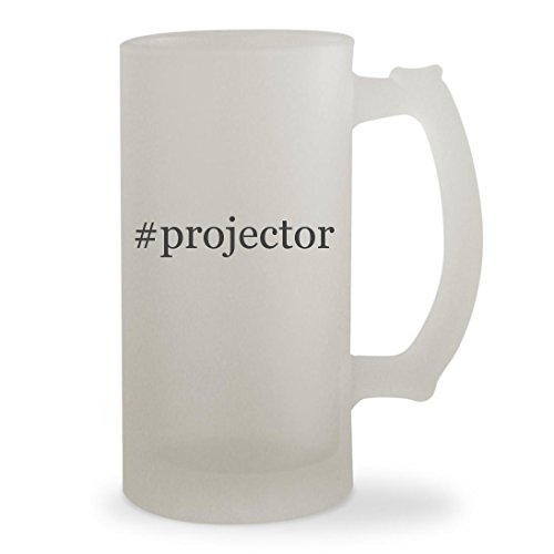 Price comparison product image #projector - 16oz Hashtag Sturdy Glass Frosted Beer Stein