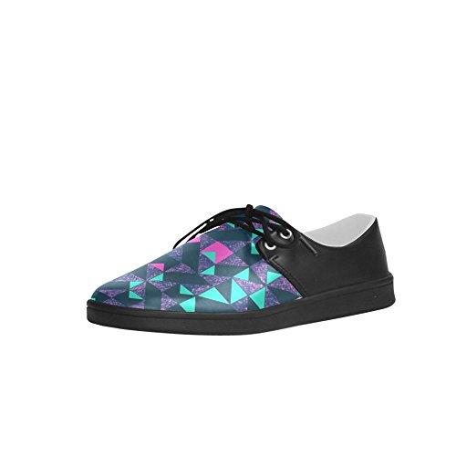 InterestPrint Geometric Green And Purple Pattern Men Sneakers Fitness Running Oxford Shoes qSqxbBt
