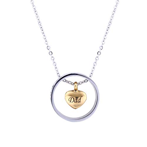 Double Heart Rose Gold Crab Cylinder Necklace Pendant Souvenir Ashes,Outsta 2019 New Fashion Jewelry Hot Sale!Under 5 Dollars Gifts for Her]()