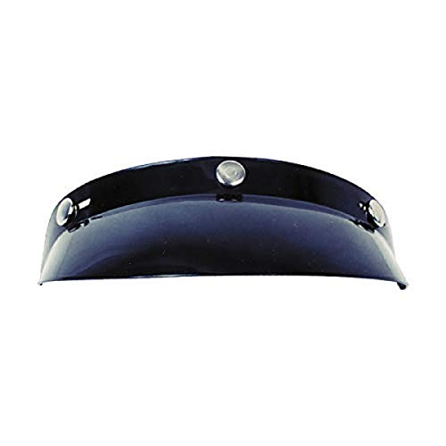 (GMAX 3 Snap Bubble Visor GM2 Touring Snocross Snowmobile Helmet Accessories - Black/One Size)