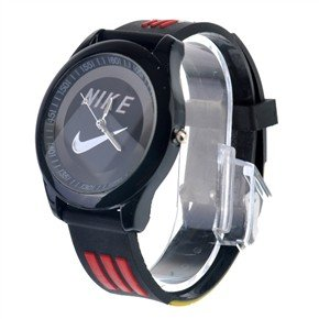 nike black circle face sports wrist watch silicon rubber band nike black circle face sports wrist watch silicon rubber band