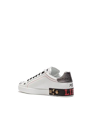 Dolce E Gabbana Herren Cs1570ah498hwm12 Weiss Leder Sneakers
