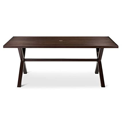 Threshold™ Casual Aluminum Top/Steel X Base Dining Table