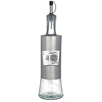 1pc, Pewter Black Jack Pour Spout Stainless Bottle