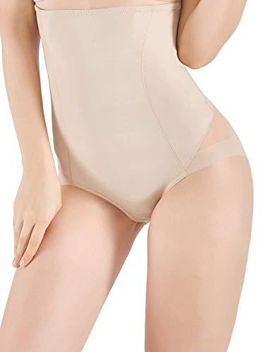 VENDAU Women Tummy Control Firm Shapewear Underwear Body Shaper High Waist Girdle Panties Hi-Waisted Shape Wear Slimmer Brief (Nude, L) (The Best Girdle Ever)
