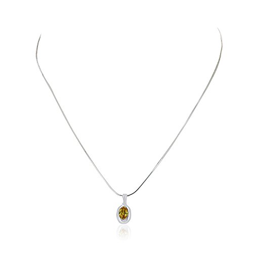 Plated Oval Pendant - 8