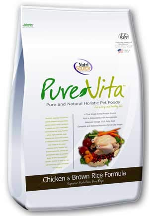 Pure Vita Dry Dog Food - Chicken & Brown Rice