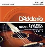 3 Sets D'Addario EFT13 Flat Top Phosphor Bronze Acoustic Guitar Strings Medium