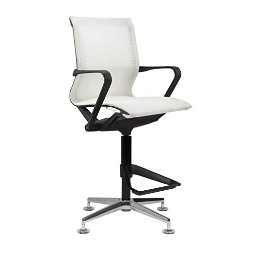 Empire Mesh Drafting Chair - Ergonomically Designed and Commercial Grade Draft Height (White)