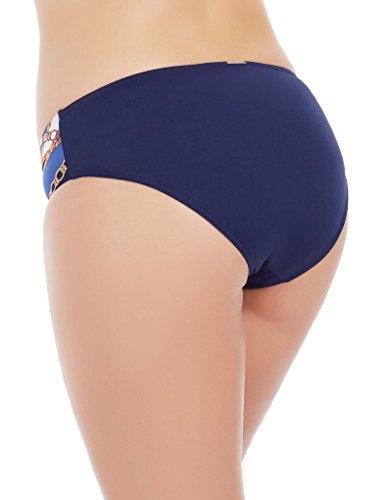 Marc and Andre L1718-ZP-MBR Women's Blue Floral Swimwear Bikini Bottom