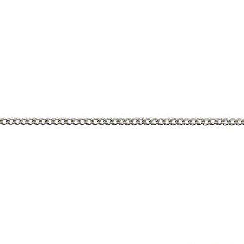 Pori Jewelers Genuine Platinum 950 Solid Diamond Cut Cuban/Curb Chain Necklace -1.0mm Thick (16)