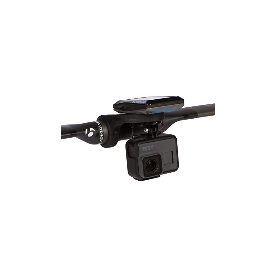 KOM Cycling GoPro Cycling Computer Mount Bundle Compatible with The Wahoo Elemnt, Elemnt Mini, and Bolt for GoPro Hero 7, Hero 6, Hero 5, Hero 4, 3+, 3, 2 and HD Cameras