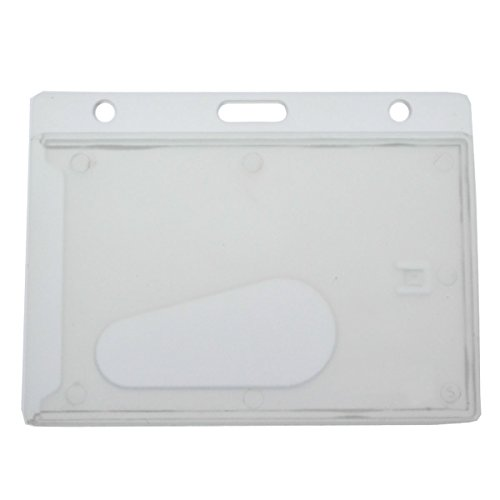 Frosted Horizontal Hard Plastic Badge Holder with Thumb Slot By Specialist ID (Sold Individually)