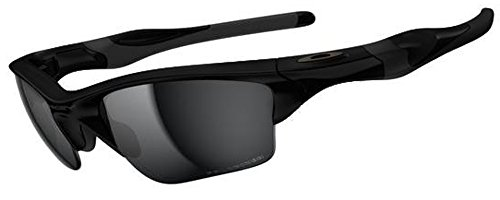 Oakley Men's Half Jacket 2.0 XL Iridium Sport Sunglasses (Matte Black Frame Polarized Black Lens, Matte Black Frame Polarized Black - 2.0 Jacket Half