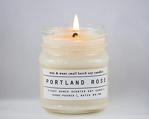 Portland Rose Scented 8 oz Soy Candle