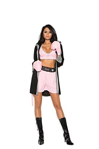 Zabeanco Prizefighter 4 Pc. Costume Includes Top, Shorts, Hooded Robe Gloves