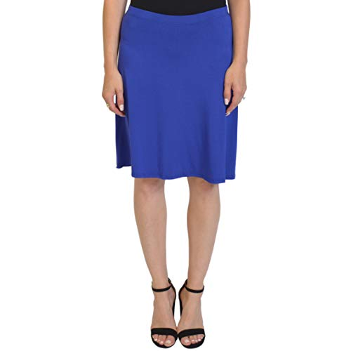 (Stretch is Comfort Women's A-Line Skirt Royal Blue Large )