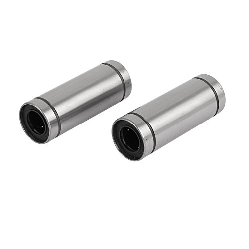 uxcell LM12LUU 12mmx21mmx57mm Linear Motion Bushing Ball Bearing Silver Tone (Linear Motion Sealed Bushing)