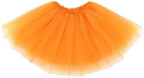 Maschera Gonna Classica Tulle Strati Costumi Arancio Per Feste Tutu Di In Teenager 4 Elastico Adulti Ruiuzi Halloween Danza A 0mv8nwON