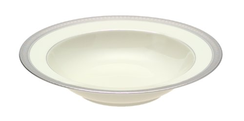 Mikasa Palatial Platinum Fine China Serving - Ivory Bowl Banded Serving China