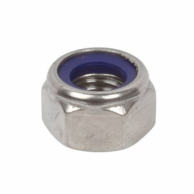 M6 Nyloc Nut (10 Pack) 6mm Nylon Insert Lock Nuts A2 Stainless Steel Free UK Delivery DBA Hardware