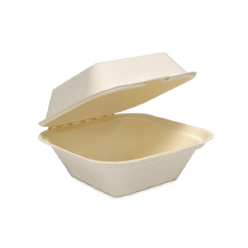 SOLO-HC6SC-2050-Eco-Forward-Sugarcane-Bagasse-Paper-Hinged-Food-Container-119-x-6-x-32-Ivory-Case-of-400