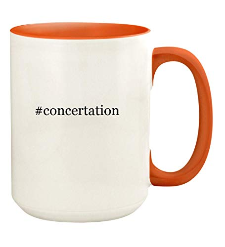 Buttkicker Speakers - #concertation - 15oz Hashtag Ceramic Colored Handle and Inside Coffee Mug Cup, Orange