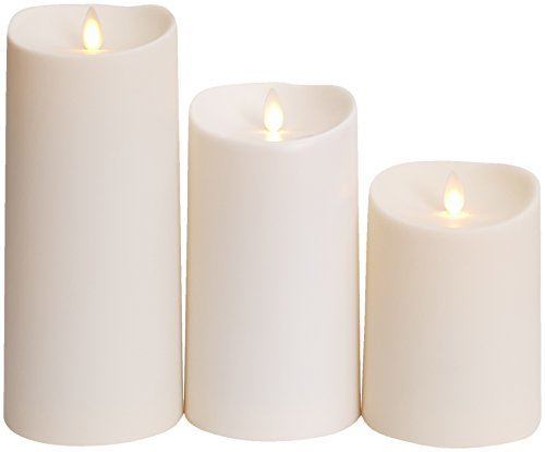 Luminara Outdoor Flameless Candle: Plastic Finish, Unscented Moving Flame Candle with Timer (9'' Ivory) by Luminara (Image #3)