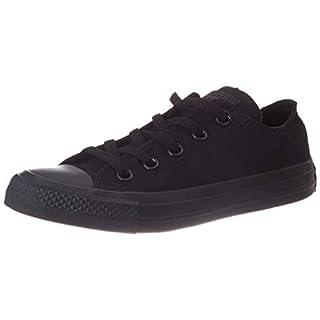 Converse Men's Chuck Taylor Sneakers, Black/White, 12.5 Women/10.5 Men