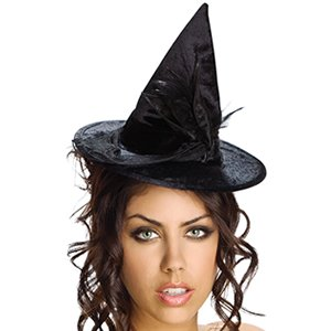 (Rubies Mini Velour Witch Hat,Black,One Size)