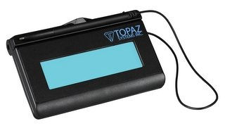 Topaz T-LBK460SE-HSB-R 1x5 Backlit LCD Signature Capture Pad - USB Connection (Higher Speed Version) by Topaz