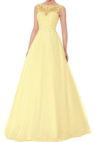 Vestido mujer trapecio amarillo para Topkleider pATgfoBwqw
